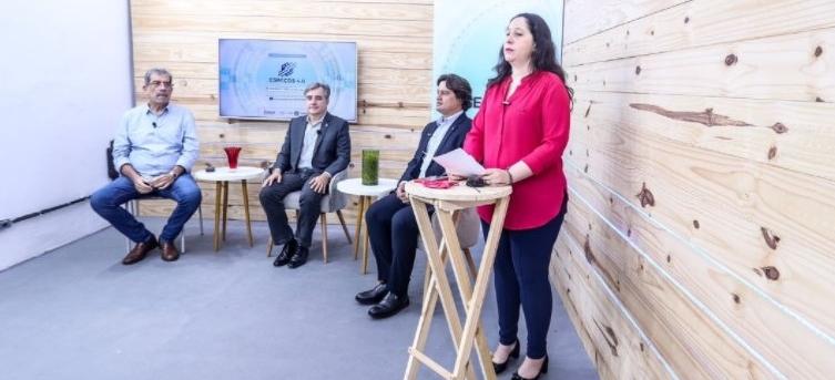 Representantes do Governo do Estado no lançamento do projeto