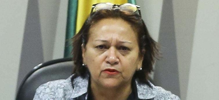 A candidata Fátima Bezerra (PT) ao governo do Rio Grande do Norte