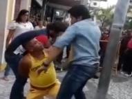 Vídeo: suspeito de roubo leva tapas de policial no Recife