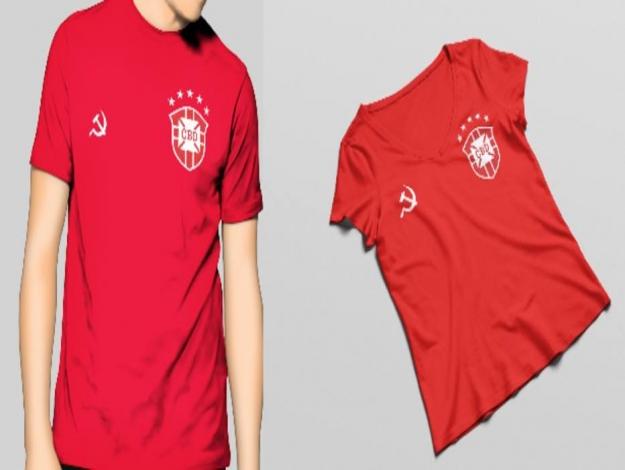 Designer cria camisa da seleção para torcedor de esquerda f919cb65abcd1