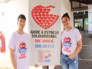Trote solidário incentiva a doação de sangue em Belém