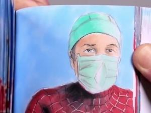 Profissionais da saúde viram heróis em homenagem animada