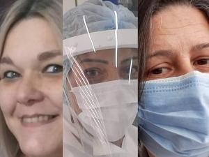 Enfermeiras na linha de frente contra a Covid-19